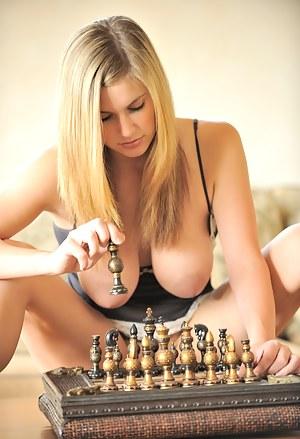 Danielle plays a little chess
