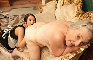 Granny loves to play with a hot young lesbian slut