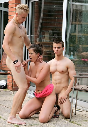 Teen MMF Porn Pictures