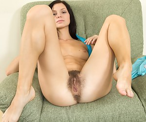 Efina is a woman that loves to get dressed. She gets dressed to slowly undress, showing her pretty lingerie. She plays with her hairy pussy as soon as she can get out of her clothes.
