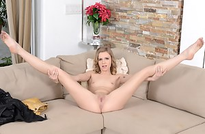 Hardcore punishment is what this blonde really loves. She is getting her holes penetrated with strong cock and swallowing cum.