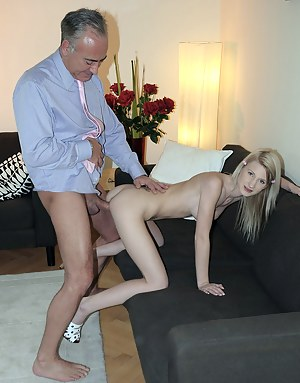 A horny old fucker penetrates an innocent cutie hardcore