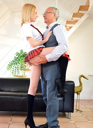 Join Jim and his exploration beneath Alica's short skirt